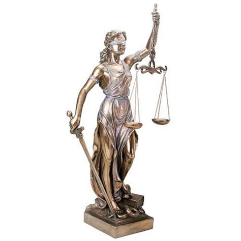 dike greek mythology lady justice 3 feet high bronze statue