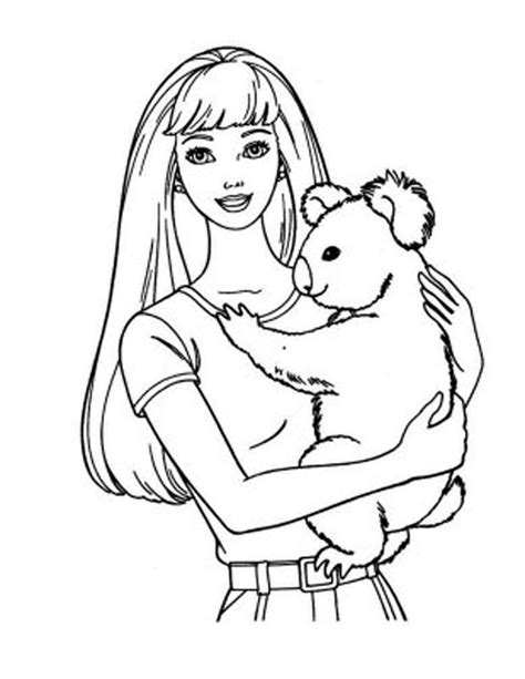 Barbie Coloring Page   Coloring Home
