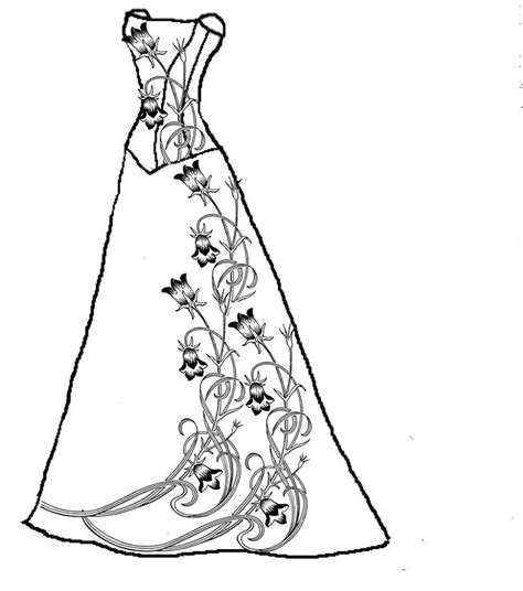 wedding dress coloring pages coloring home