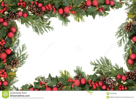 Card Frames Templates Pine Boughs by Decorative Border Royalty Free Stock Image