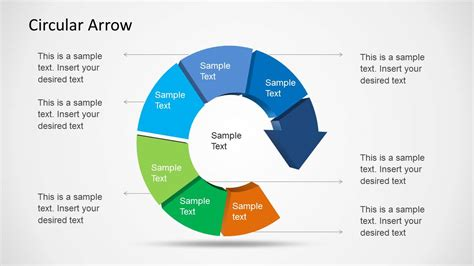 Powerpoint Circular Arrow Circular Arrow Template For Powerpoint Slidemodel