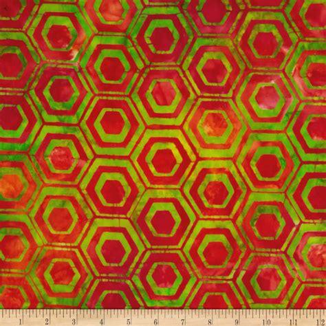 Stripe Batik batiks pop hexagon stripe lime discount