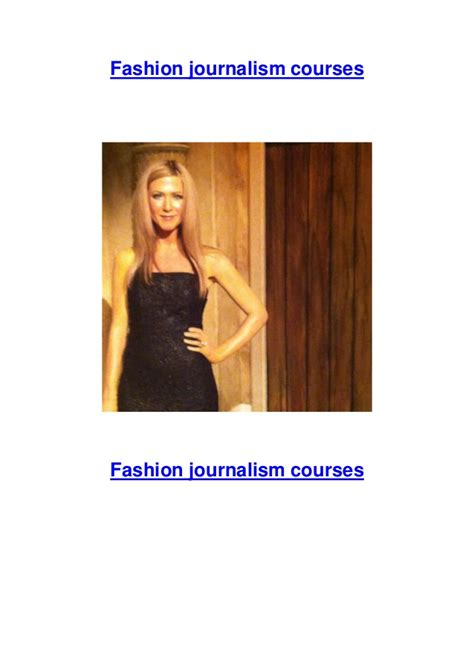 Journalism Courses by Fashion Journalism Courses