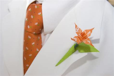 Origami Buttonhole Flower - 23 bad boutonnieres that demand attention offbeat