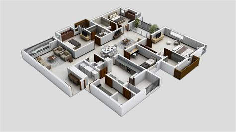 house with 4 bedrooms 50 four 4 bedroom apartment house plans architecture