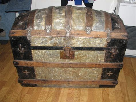 antique trunks value collectibles general antiques dome top trunk antique trunks