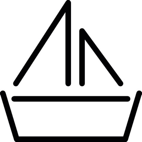 paper boat outline boat with sails outline icons free download