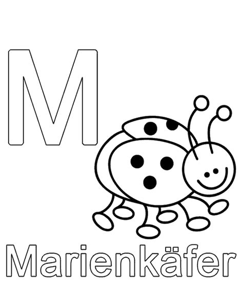 german alphabet coloring pages letter m to print or download for free