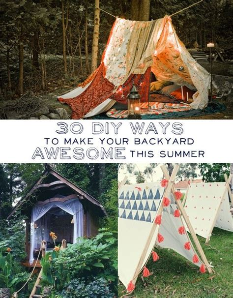 30 diy ways to make your backyard awesome this summer 31 diy ways to make your backyard awesome this summer 텐트 축제 및 정원