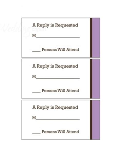 Free Jpeg Response Card Template by Printable Lavender Story Rsvp Cards Template