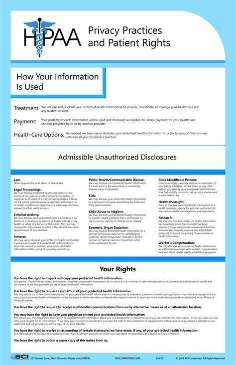 printable hipaa poster hipaa notice of privacy poster