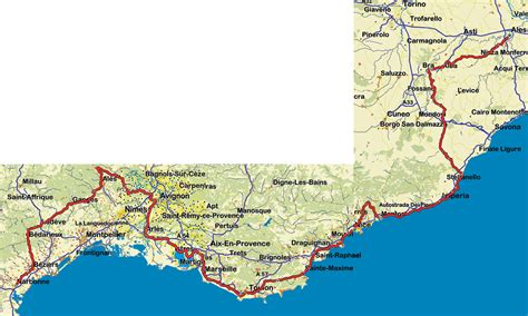 Motorradfahren Provence by Karte Cote D Azur Italien Kleve Landkarte