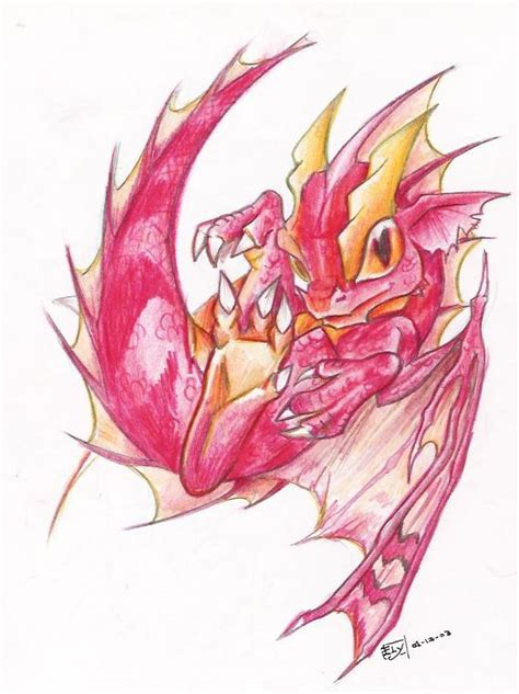 baby red dragon by edheloth on deviantart