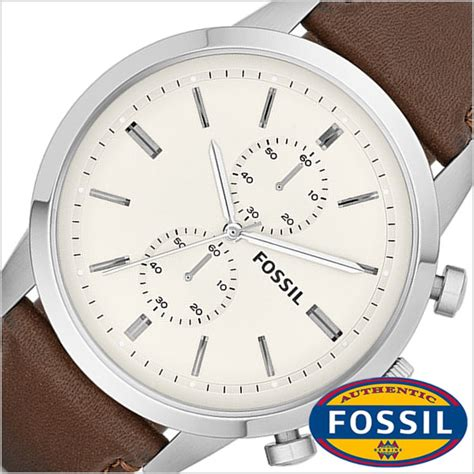 Fossil Ch2951 Leather Brown Silver White Chrono hstyle rakuten global market fossil fossil