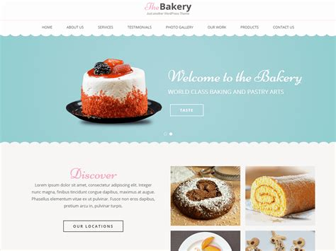 Bakes And Cakes by Theme Directory Free Themes