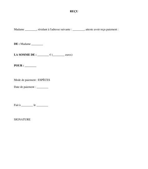 Exemple Lettre Demande De Quittance Exemple Quittance De Paiement Document