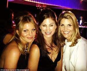 lori loughlin and keri russell ashley olsen and lori loughlin cuddle up together as they