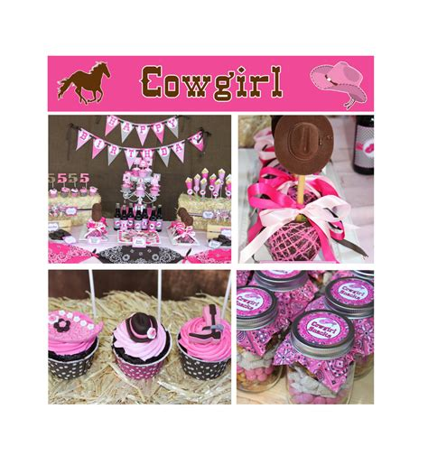 printable cowgirl party decorations diy cowgirl birthday party printable deluxe by cupcakeexpress