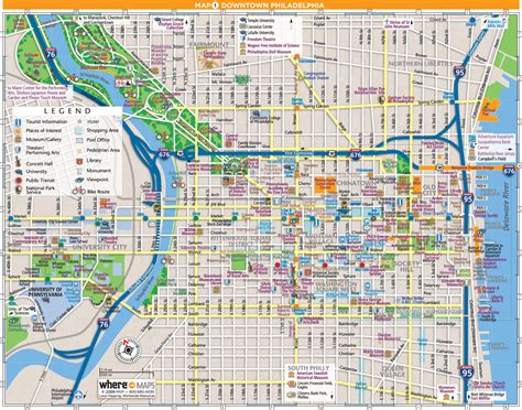 printable street map of philadelphia downtown map philly pinterest philadelphia maps and