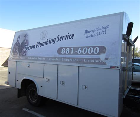 utility truck wrap for tucson plumbing innovative signs