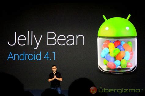 android jelly bean jelly bean 4 1 the newest android version from