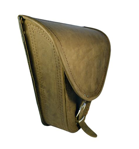 harley davidson softail brown leather saddle bag chrome