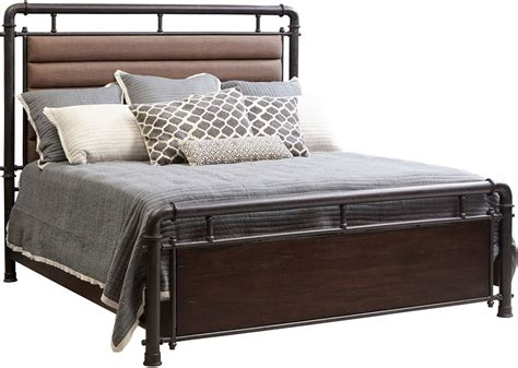 fulton bed fulton st brown queen metal bed from samuel lawrence
