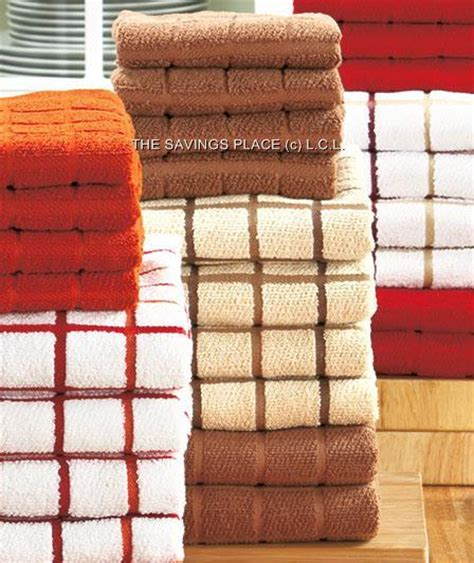 Terry Sets 10 terry microfiber kitchen dish towel set in stylish colors ebay
