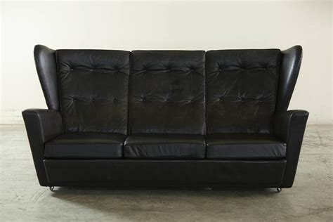 very cheap leather sofas howard keith black leather wingback sofa very rock n