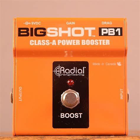 Radial Bigshot Pb1 radial tonebone bigshot pb1 class a power booster pedal