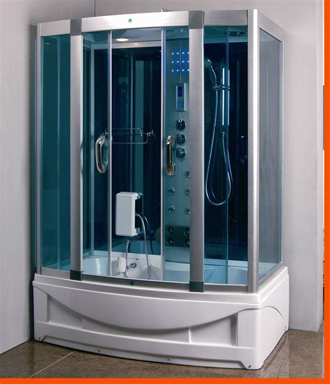 steam shower bathtub steam shower room with deep whirlpool tub heater 1500w