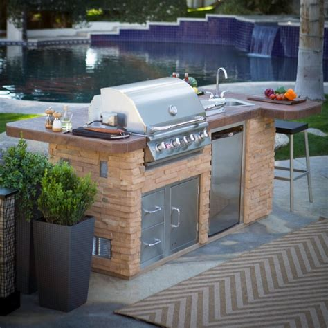 outdoor island kitchen prefab outdoor kitchen kits in various designs