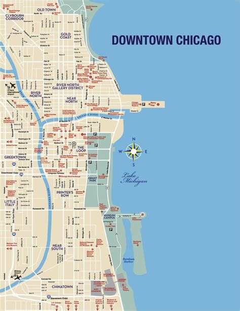 chicago map of attractions discover and save creative ideas