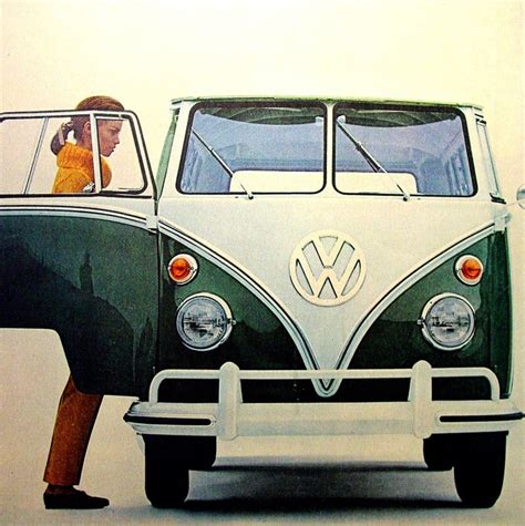 volkswagen wagon vintage vintage vw station wagon ad 1965 woman getting into a