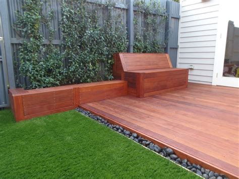 small court yard brought to life with merbau decking a