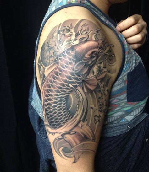 black and grey koi fish tattoo designs koi tattoos designs ideas and meaning tattoos for you