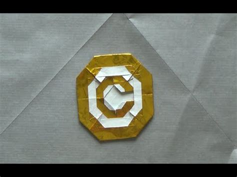origami copyright sign by morisue kei 森末圭 tutorial