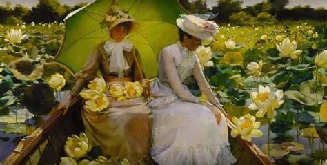 fiori e bambini giovani donne fiori giardini bambini i quadri di