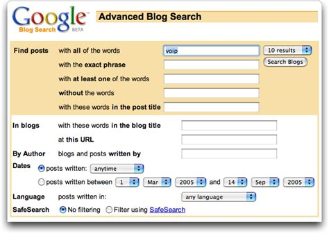 Blog Search | how do i use google blog search ask dave taylor