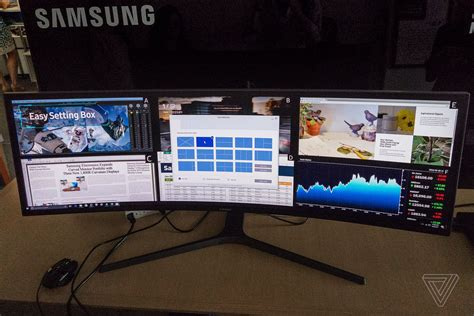 samsung s 49 inch ultrawide curved display is basically just half a tv at this point the verge