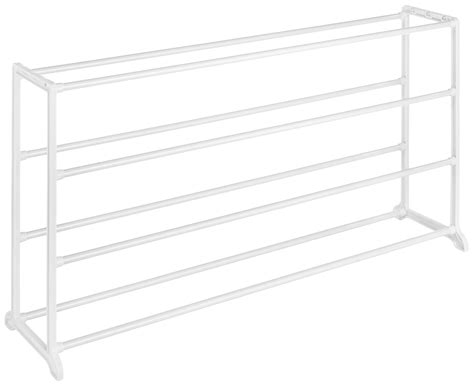 whitmor white 20 pair shoe rack storage organizer holder galleon whitmor 4 tier floor shoe rack 20 pair