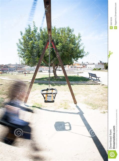 our first swinging experience baby swing movement stock photo image 55874518