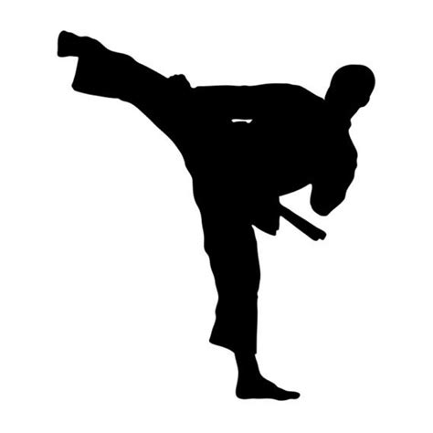 imagenes de karate en blanco y negro 10 6 12 2cm taekwondo karate handsome boy car stickers