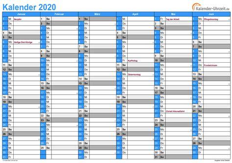 excel kalender  kostenlos