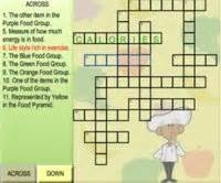 Nutrition crossword puzzles teacher lesson plans kids food puzzles