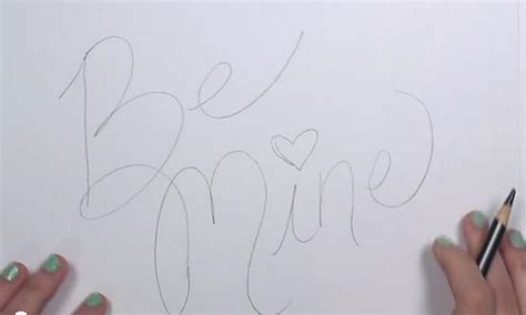how to draw things for valentines day s day drawing be mine