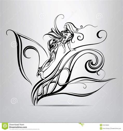 imagenes de hadas en blanco y negro silueta blanco y negro de un duende del bosque foto de