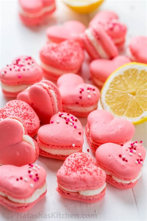 Heart Macarons with Lemon Buttercream (VIDEO