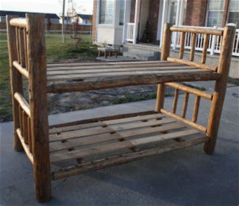 Log Bunk Beds For Sale Garage Sale Skip Peeled Pine Log Bunk Beds 450