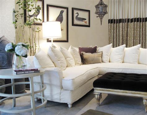 sofa set traditional living room los angeles by beautiful ivory slipcovered sectional traditional